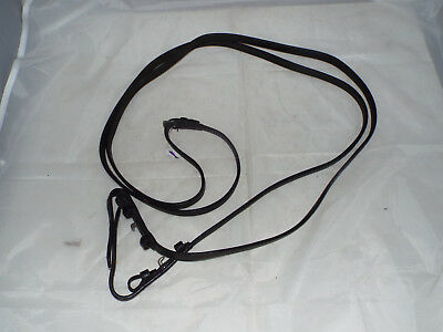 Black Full Size Leather Reins