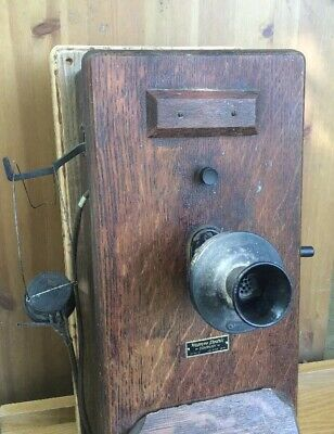 Antique Western Electic  Railroad Station Wall Phone (NY) Operator Assist