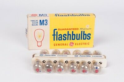 General Electric Flashbulbs M3 clear bulbs 12 unidades