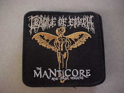 """Cradle of Filth """"Manticore & Other Horrors"""" IRON ON PATCH - Promo ONLY !!"""