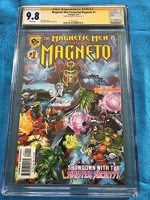Magnetic Men f. Magneto #1 - Amalgam - CGC SS 9.8 NM/MT - Signed by Barry Kitson