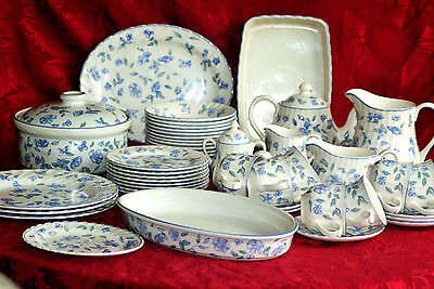 Bhs - Tea Set And Tableware - ' Bristol Blue ' - English Made