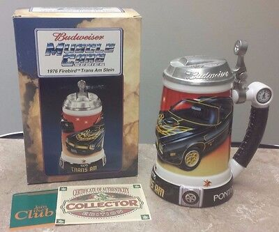 Budweiser Muscle Cars Series Stein - 1976 Firebird Trans Am Stein CS519 - E1535