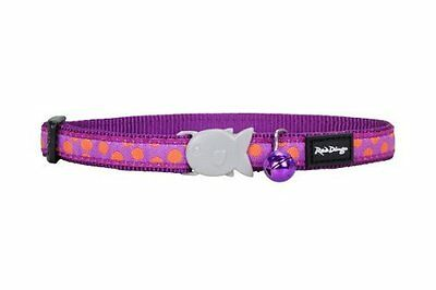 Red Dingo Purple Polka Dot Cat / Kitten Collar Size - one size - comes with bell