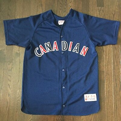 Vintage Molson Canadian Beer Lager Mesh Baseball Jersey Mens Size L