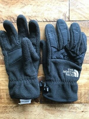 THE NORTH FACE Black Gloves WINTER BOYS LARGE VGUC