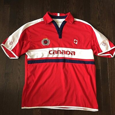 Vintage Canada Tee Pee Jersey Polo Shirt Mens Size XL