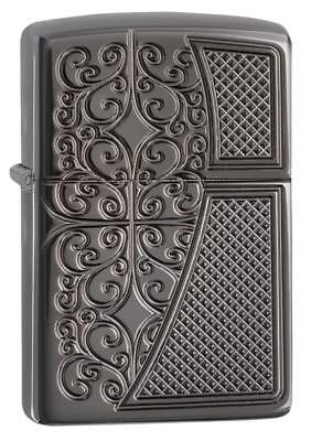 Zippo Armor Windproof Deep Carved Lighter, Royal Filigree, 29498, New In Box