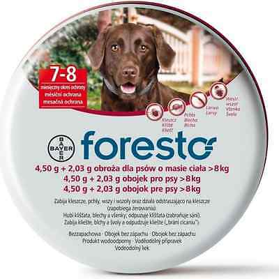 Seresto/Foresto Flea & Tick Collar for Large Dogs > 18lbs(8kg) >7 Weeks Old