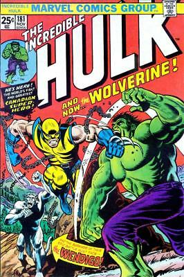 Incredible Hulk #181 Comic Book Photocopy Replacement Wraparound Cover