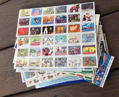LOT vintage CHRISTMAS SEAL STAMPS american lung association