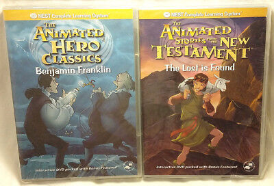 Lot of 2 DVDs Nest Animated Classics Benjamin Franklin & The Lost is Found NEW
