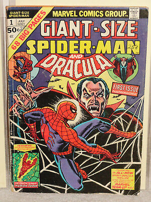 Bronze Age Marvel Comics GIANT SIZE SPIDER-MAN # 1 & DRACULA READER 1974