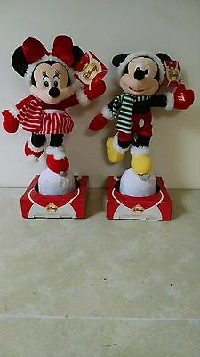Disney Skating Fun Mickey & Minnie Mouse Pair Ice Skating Motion & Sound New