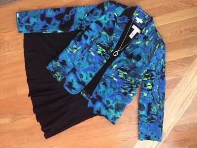 Women's 4 Pc Outfit: Large Jacket & Top; NWT! Skirt Sz 12. NWOT Necklace.