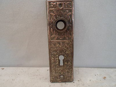 Victorian / Eastlake metal door back plate, great detail!!!
