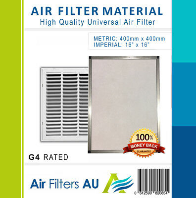 Air Filter Material For Ducted Air Conditioner Home Universal Return Media G4