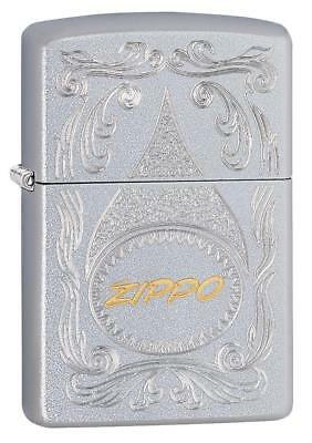 Zippo Windproof Lighter Engraved with Gold Script Logo, 29512 New In Box
