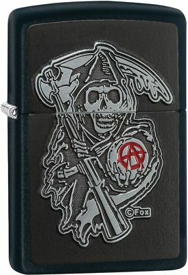 Zippo Windproof Lighter With Sons Of Anarchy, SOA, Emblem,  29489. New In Box