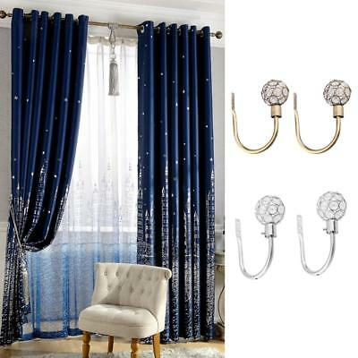 Pair Hollow Ball Design Window Curtain Tie-Back Wall Hooks Clothes Coat Hangers