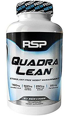 RSP Nutrition QUADRALEAN 150 Caps Fat Burner CLA lean hydroxycut mode FREE POST