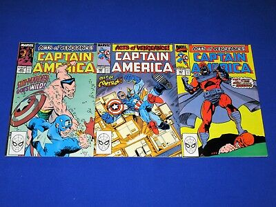 CAPTAIN AMERICA Acts of Vengeance! Issues 365-367 [Marvel 1989] NM- or Better