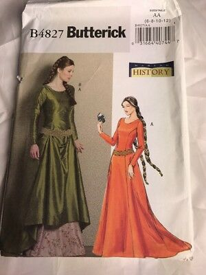 SEWING PATTERN FOR Camelot LOTR Medieval dress Butterick 4827 Maid ...