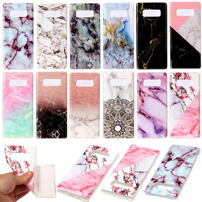 Marble Ultra Slim Soft Silicone Case Cover For Samsung Galaxy Note 8 S8 S9 Plus