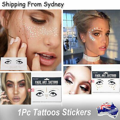 1x Disposable Temporary Face Gold Tattoo Waterproof Art Bronzing Freckles Sticke