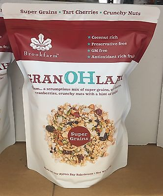 Brookfarm Granohlaah with super grains  tart cherries & crunchy nuts 1.3kg NEW