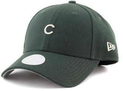 Women Chicago Cubs New Era MLB Team 9Forty Hat Genuine Merchandise Cap Green