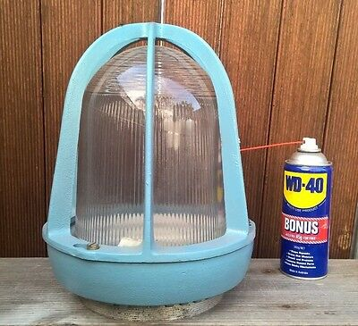 Large Vintage Industrial Crouse Hinds Explosion Proof Light Lamp Shade NOS