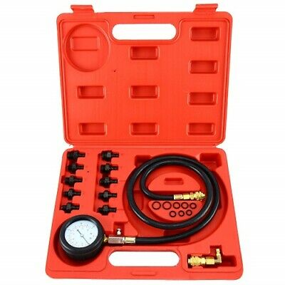 12pc Engine Oil & Transmission Pressure Tester Gauge Diagnostic Test Kit 140 PSI