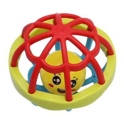 Toddle Baby Colorful Rolling Ball Infant Rattle Ring Bell Grasping Toy Gift LH