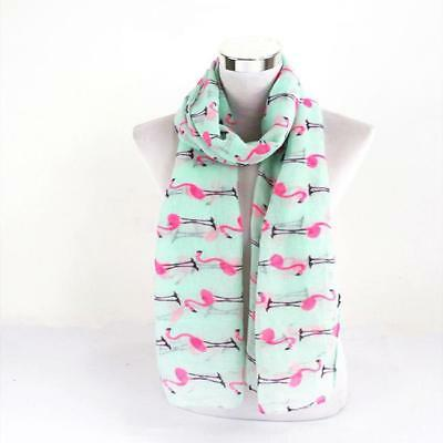 Flamingo Animal Print Women Scarf Floral Wrap Shawl Stole Soft Fashion Style LD