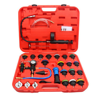28pcs Universal Radiator Pressure Tester and Vacuum Type Cooling System Kit CA
