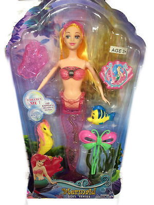 24 Mermaid Doll With Accessories 2 Assorted Girls Toy Bulk Wholesale Lot