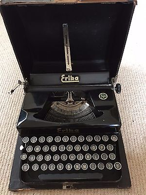 German Typewriter ERIKA Seidel & Naumann with Case
