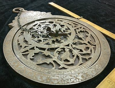 Antique IRON Persian Astrolabe - Big Astrology Instrument