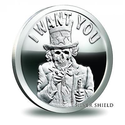 2014 Silver Shield Uncle Slave 1 oz .999 Silver Proof COA #1027 of 1400 Minted