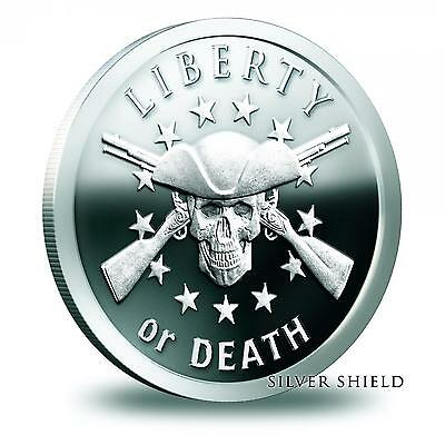2014 Silver Shield Liberty Or Death 1 oz .999 Silver Proof Low COA #107 of 1500