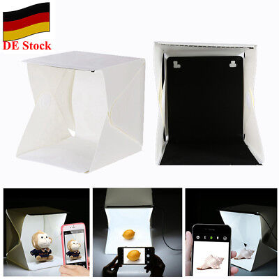 【DE】Mini Folding Lightbox Photography Backdrop Photo Studio Room Tent Kit DSLR