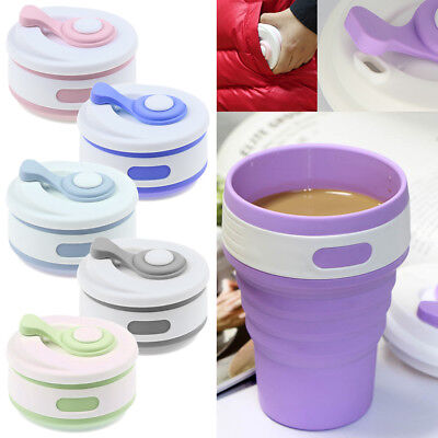 350ML Silicone Portable Reusable Folding Travel Collapsible Reusable Coffee Cup