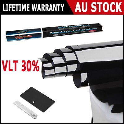 AU SHIP Car Home Window Tint Film Black Roll 30% VLT 760mm*7m Tinting Tools Kit