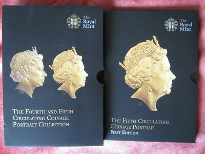 2015 Royal Mint Fifth Circulating Coinage Portrait set 1st edition