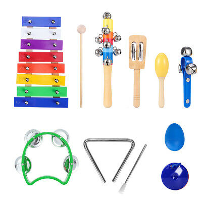 Percussion Set Wooden Kids Toddlers Music Instruments Toys Hand Percussion