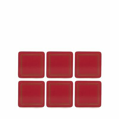 Home Collection Set Of Six Red Border Print Coasters From Debenhams