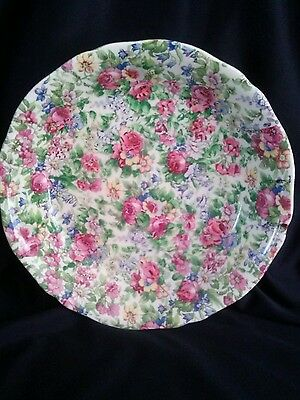 Vintage Floral All Over Chintz Superior Quality Dish Very Good Condition