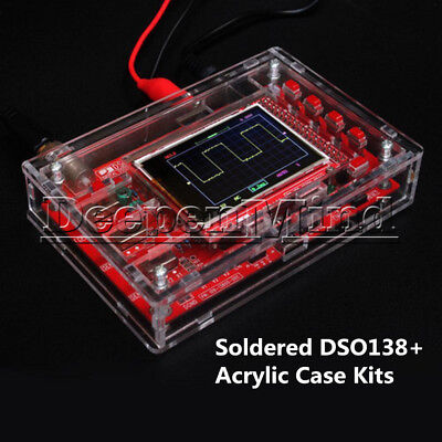 "Digital DSO138 2.4"" TFT Oscilloscope +Acrylic Case DIY Kit SMD Soldered"