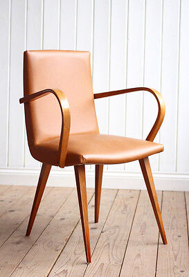 Vintage Retro French Bentwood Arm Chair Mid Century